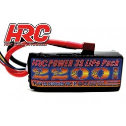 HRC06322D Accu - LiPo 3S - 11.1V 2200mAh 70C - HRC 2200 - XT60 - 26x35x90mm