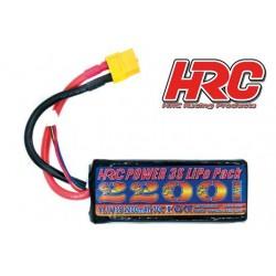 HRC06322X Accu - LiPo 3S - 11.1V 2200mAh 70C - HRC 2200 - XT60 - 26x35x90mm