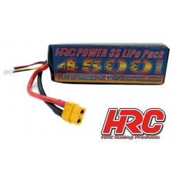 HRC06345XT60 Accu - LiPo 3S - 11.1V 4500mAh 40C - XT60 - 25x42x138mm