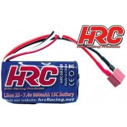 HRC08208D Accu - Li-Ion 2s - 7.4V 800mAh 15C - Ultra T - 55 x 34 x 17mm