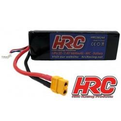 HRC08244X Accu - LiPo 2S - 7.4V 4400mAh 40C - XT60 134x43x18mm