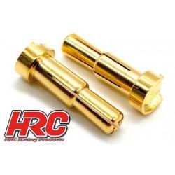 HRC9013B Connecteur - Gold - TSW Pro Racing - Dual - 4.0mm & 5.0mm – mâle (10 pces)