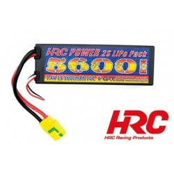 HRC02256X Accu - LiPo 2S - 7.4V 5600mAh 70C - Hard Case - XT90AS 46.5*25*138.5mm