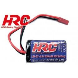 HRC08204B Accu - LiFe 2s - 6.4V 450mAh 35C - BEC - 46 x 27 x 14mm