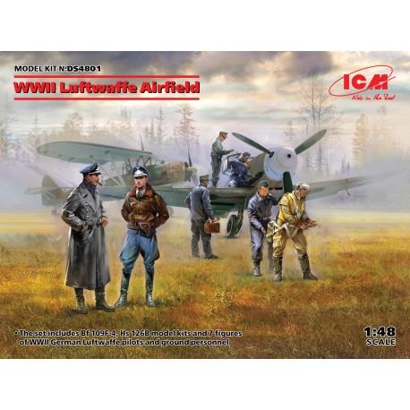 ICMDS4801 WWII Luftwaffe Airfield (7fig.)1/48