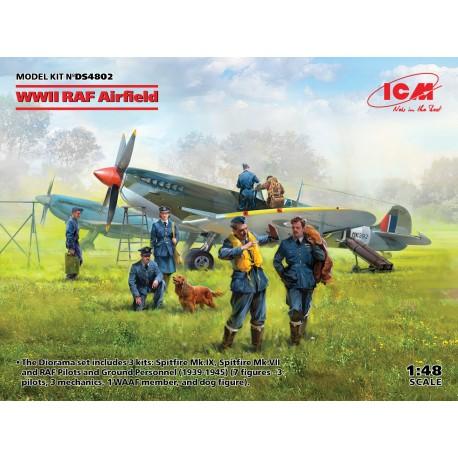 ICMDS4802 WWII RAF Airfield (7fig.) 1/48