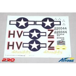 AS-AH001P-013 Arrows RC - Decal set - P-47 Thunderbolt - 980mm