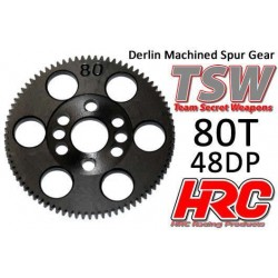 HRC76480LW Couronne - 64DP - Delrin Low Friction usiné - Ultra Light - TSW Pro Racing - 80D