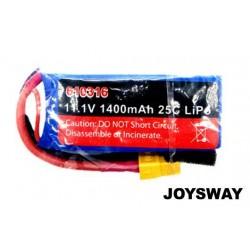JOY610316 Battery - LiPo 3S - 11.1V 1400mAh 25C