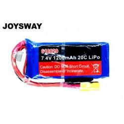 JOY610829 Battery - LiPo 2S - 7.4V 1200mAh 20C