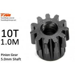 KF6602-10 Pignon - 1.0M / axe 5mm - Acier - 10D