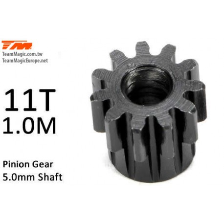 KF6602-11 Pignon - 1.0M / axe 5mm - Acier - 11D