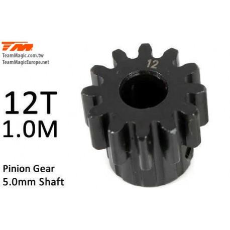 KF6602-12 Pignon - 1.0M / axe 5mm - Acier - 12D