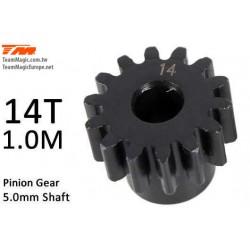 KF6602-14 Pignon - 1.0M / axe 5mm - Acier - 14D