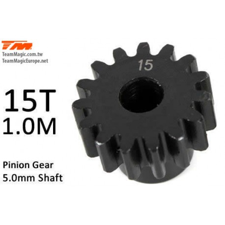 KF6602-15 Pignon - 1.0M / axe 5mm - Acier - 15D