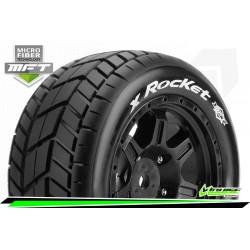 LR-T3297B Louise RC - MFT - X-UPHILL - Set de pneus X-Maxx - Monter - Sport - Jantes Noir