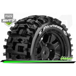 LR-T3296B Louise RC - MFT - X-PIONEER - Set de pneus X-Maxx - Monter - Sport - Jantes Noir