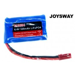 JOY810604 Battery - LiFe 2S - 6.4V 320mAh - 44x27x14mm