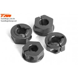 KF1418-3 Pièce Option - TM E4D/E4D-MF - Aluminium 7075 - Hexagones de roues +1.5mm (4 pces)