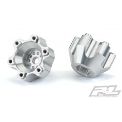 PL6337-01 Option Part - 6x30 to 12mm Aluminum Hex Adapters (Wide) for Pro-Line 6x30 2.8'' Wheels