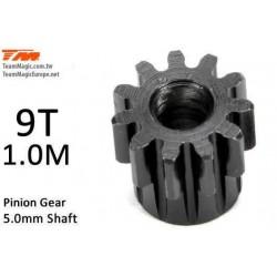 KF6602-09 Pignon - 1.0M / axe 5mm - Acier - 9D