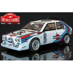 EZRL0876 Auto - 1/10 Electrique - 4WD Rally - ARTR - Variateur étanche - Lancia Delta S4 - Carrosserie PEINTE