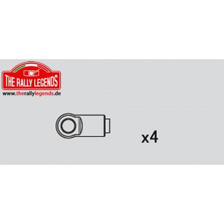 EZRL2217 Pièce détachée - Rally Legends - Chapes d'amortisseurs pour Rally (4 pcs)