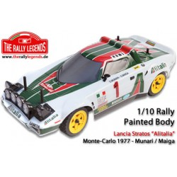 EZRL2226 Carrosserie - 1/10 Rally - Scale - Peinte - Lancia Stratos Alitalia