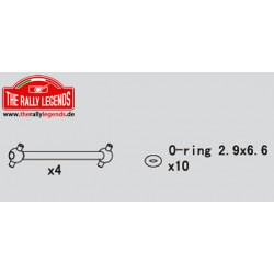 EZRL2228 Pièce détachée - Rally Legends - Cardans 45mm (4 pcs)