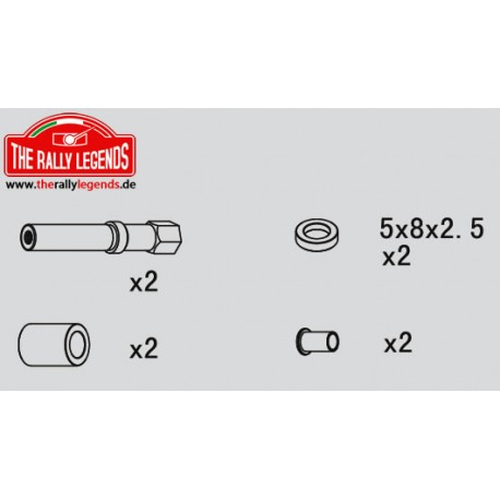 EZRL2237 Pièce détachée - Rally Legends - Pivots de direction Set (2 pcs)