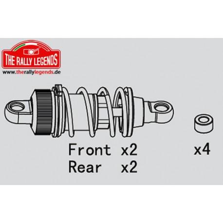 EZRL2239 Pièce détachée - Rally Legends - Amortisseurs Set longs (Plastique) pour Rally (4 pcs)