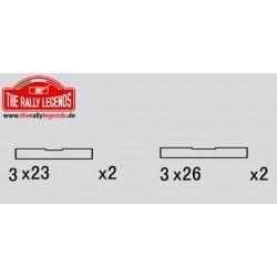 EZRL2241 Pièce détachée - Rally Legends - Axes de suspension 3X26/3X23mm (4 pcs)