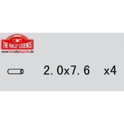 EZRL2245 Pièce détachée - Rally Legends - Goupille 2.0X7.6 (4 pcs)