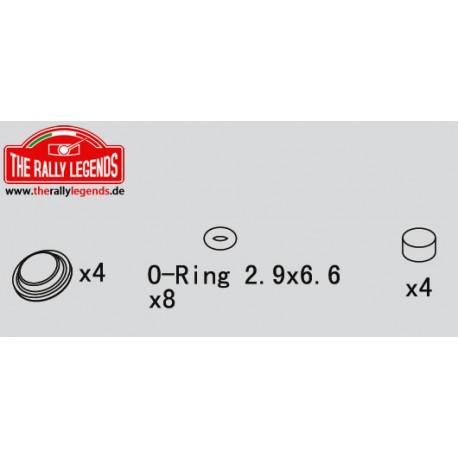 EZRL2256 Pièce détachée - Rally Legends - Pièces d'amortisseurs (O-rings) (4 pcs)