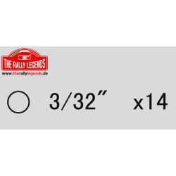 EZRL2261 Pièce détachée - Rally Legends - Billes de différentiel 2.4mm (14 pcs)