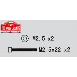 EZRL2262 Vis - tête ronde - M2.5 x 22mm