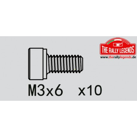 EZRL2269 Vis - tête cylindrique - Hex (Allen) - M3 x 6mm (10 pcs)