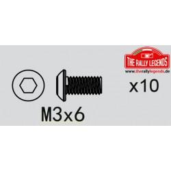 EZRL2271 Vis - tête ronde - M3 x 6mm (10 pcs)