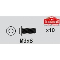 EZRL2272 Vis - tête ronde - M3 x 8mm (10 pcs)