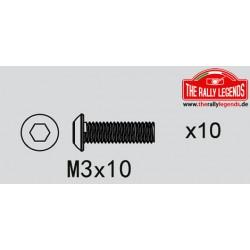 EZRL2273 Vis - tête ronde - M3 x 10mm (10 pcs)