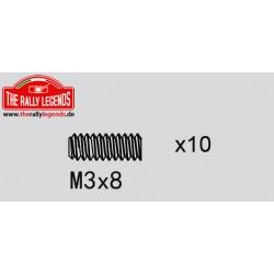 EZRL2275 Vis sans tête - M3 x 8mm (10 pcs)