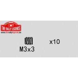 EZRL2276 Vis sans tête - M3 x 3mm (10 pcs)