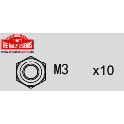 EZRL2281 Ecrous - M3 (10 pcs)