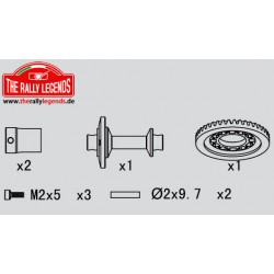 EZRL2298 Pièce détachée - Rally Legends - Axe rigide