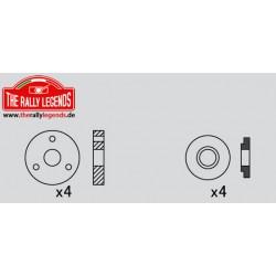 EZRL2302 Pièce détachée - Rally Legends - Pistons d'amortisseurs 3 Holes (4 pces)