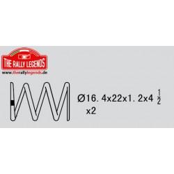EZRL2304 Pièce détachée - Rally Legends - Ressort d'amortisseur (4.5 - 1.2mm) (2 pcs)