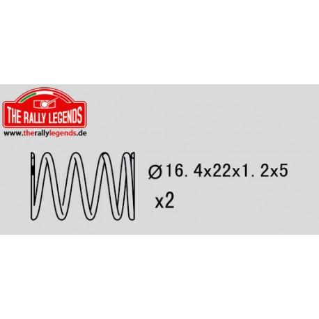 EZRL2305 Pièce détachée - Rally Legends - Ressort d'amortisseur (5 - 1.2mm) (2 pcs)