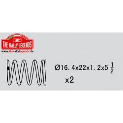 EZRL2306 Pièce détachée - Rally Legends - Ressort d'amortisseur (5.5 - 1.2mm) (2 pcs)