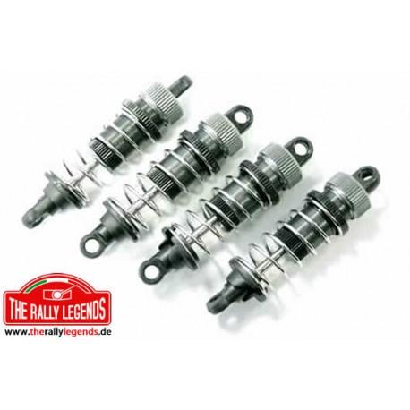 EZRL2411 Pièce Option - Rally Legends - Set d'amortisseurs aluminium XL pour Rally Car (4 pcs)