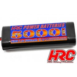 HRC01650S Accu - 6 Eléments - HRC Power Batteries 5000 - NiMH - 7.2V 5000mAh - Stick - Prise Tamiya